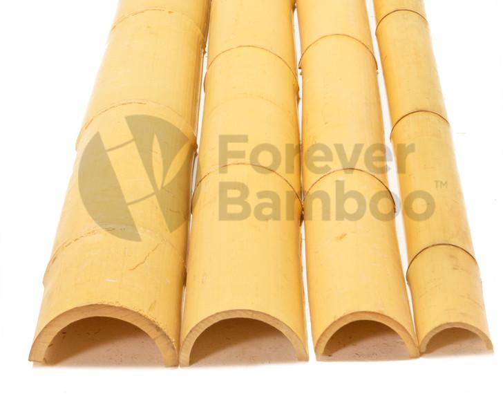 "4"" x 8' Bamboo Poles Half Rounds (6 Half Poles)"