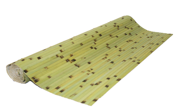 Bamboo Wall Paneling Dark Green Burnt 4' x 8'