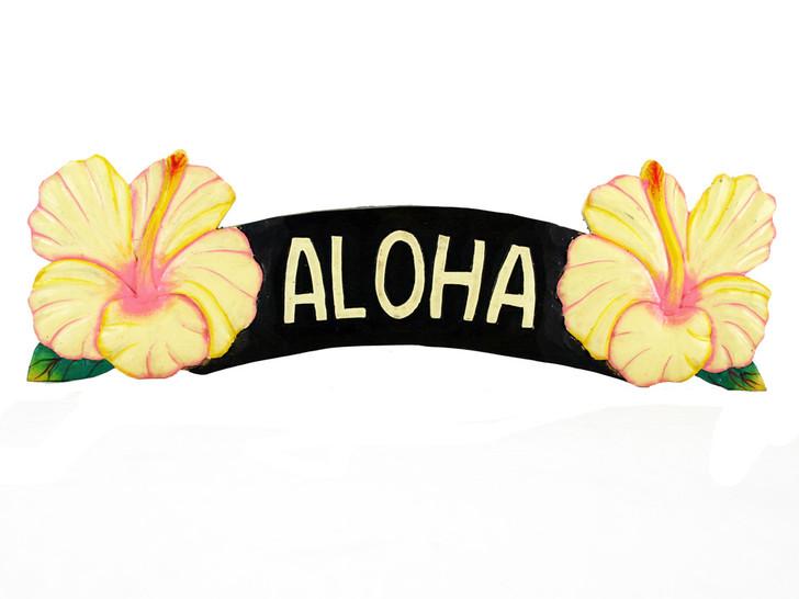 Aloha Yellow Hibiscus Sign