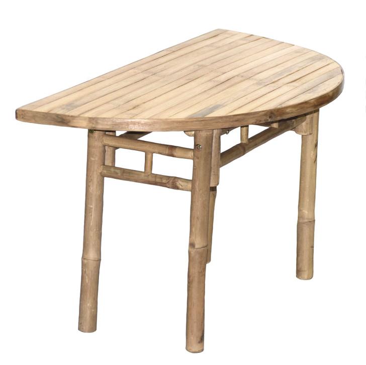Half Moon Bamboo Table