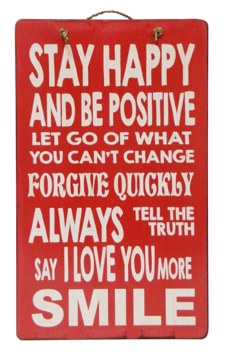 "Retro Sign "" STAY HAPPY ..... """