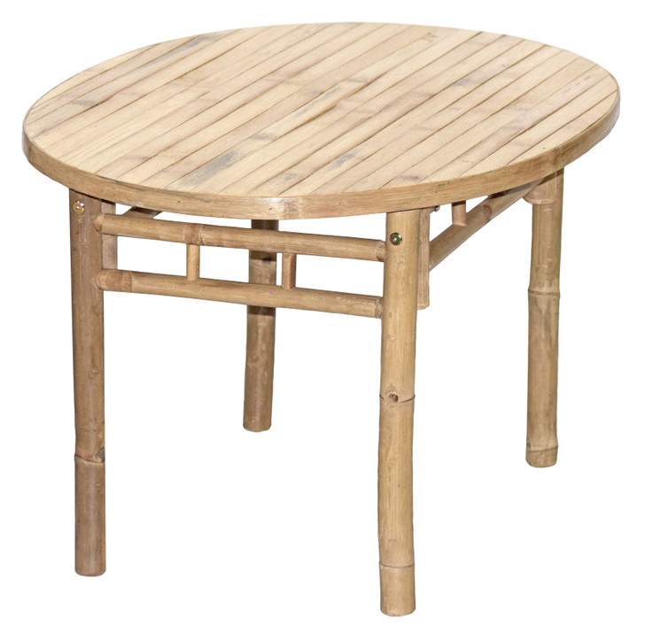 Oval Bamboo Table