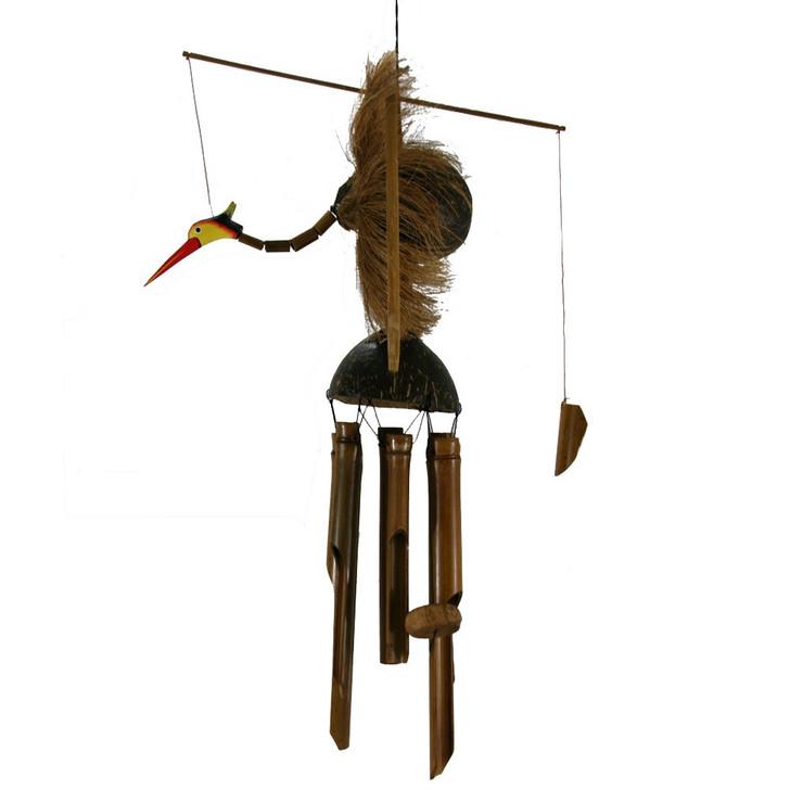 Tiki Bamboo Bird Wind Chime