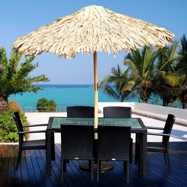 Tiki Grass Umbrella 8'