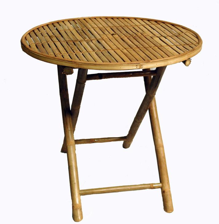 Round Folding Bamboo Table
