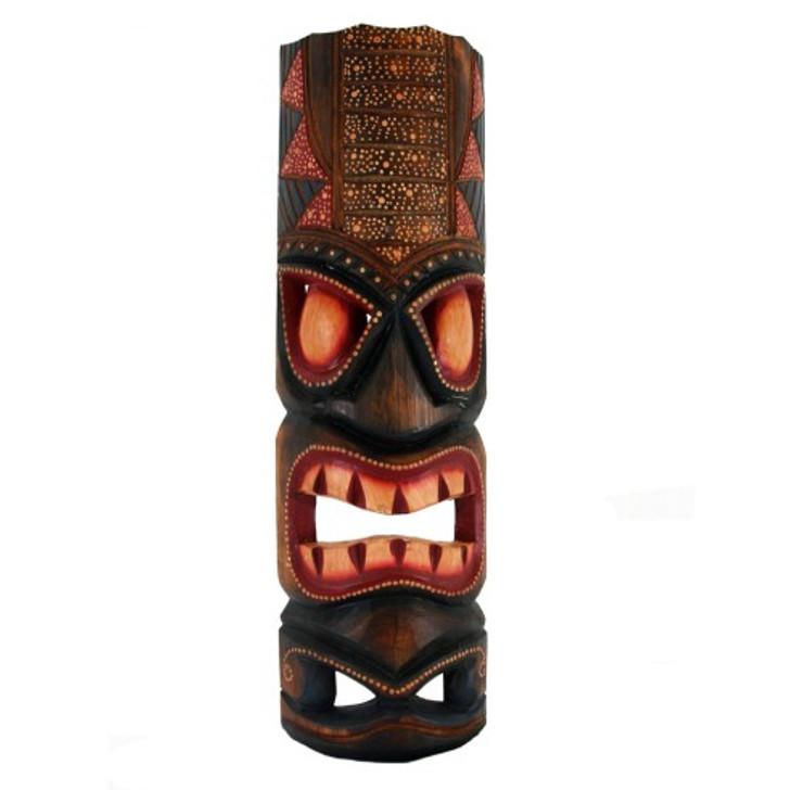 "20"" Hawaiian Dot Art Tiki Mask"