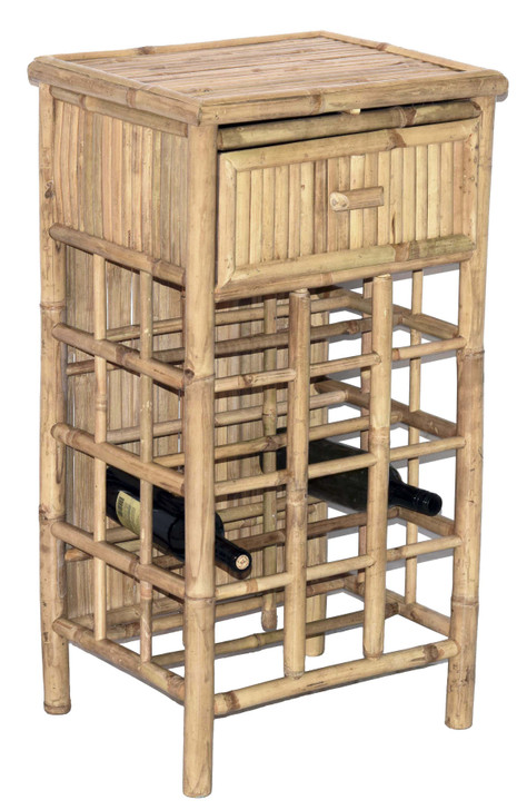 Bamboo Wine Rack with Drawer