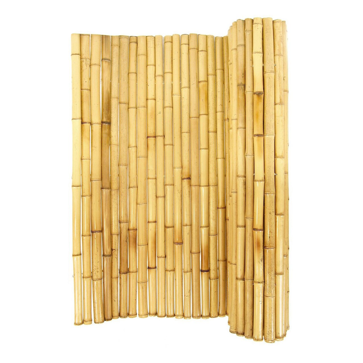 "Natural Rolled Bamboo Fence 2"" D X 8' H X 8' L"