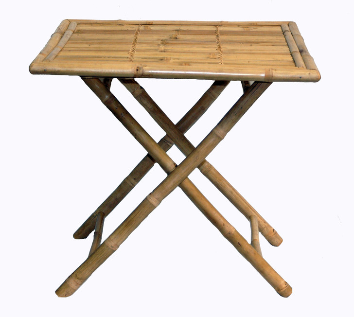 Square Folding Bamboo Table