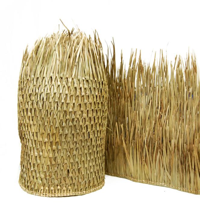 "Mexican Palm Thatch Runner Roll 35"" H x 8' L"