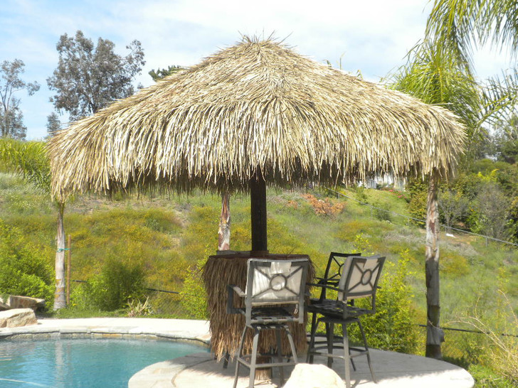 11' Single Pole Umbrella Kit with Mexican Thatch Covers