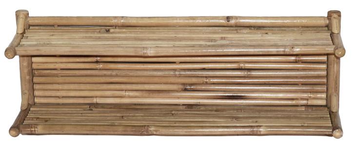 Dual Bamboo Wall Shelf