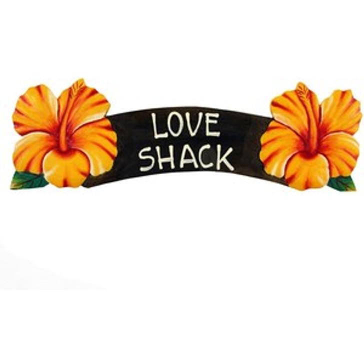 Love Shack Yellow Hibiscus Sign