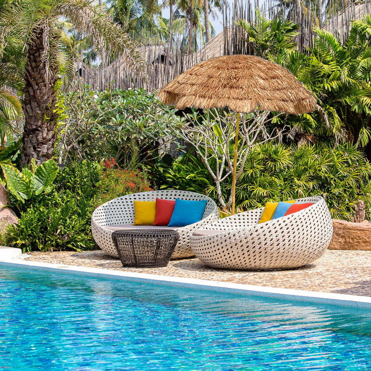 9.5 Ft. Hula Tiki Thatch Beach and Patio Umbrella