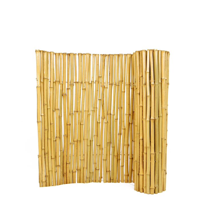 """Natural Bamboo Fence ¾"""" D x 4' H x 8' L"""