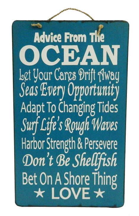 """Retro Sign """" ADVICE FROM THE OCEAN..... """""""