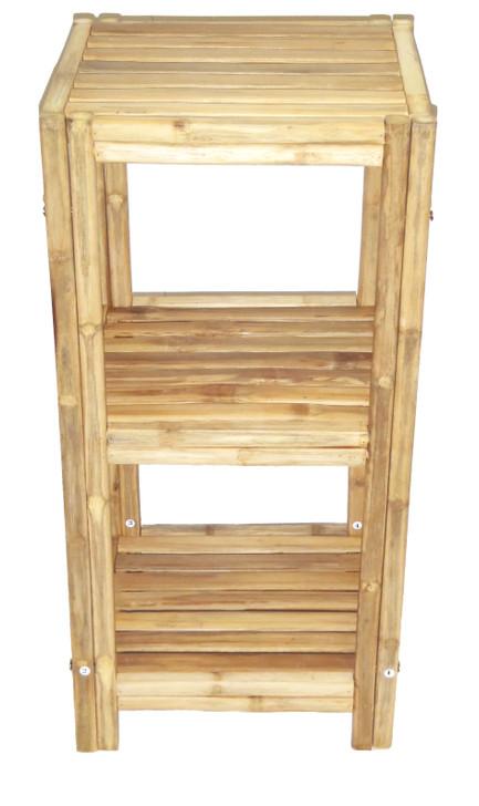 Square Bamboo Bathroom Rack