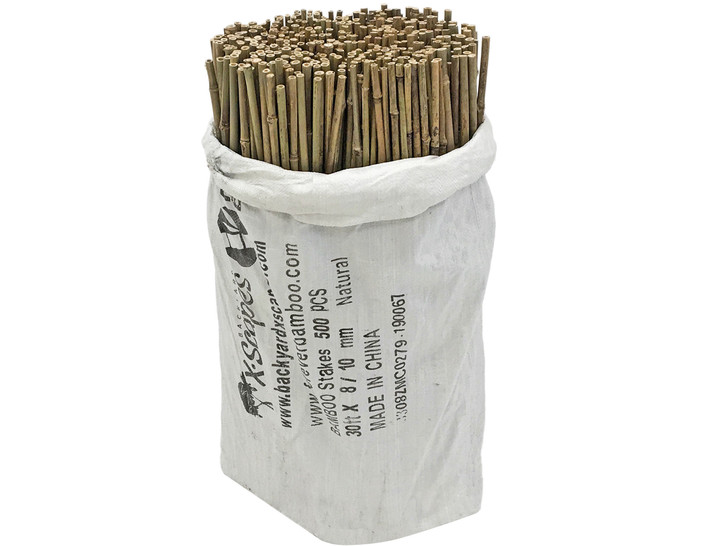 3/8 in D. x 2.5 Ft. L Natural Bamboo Garden Stakes