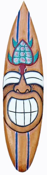 "40"" Smiley Turtle Surfboard Mask"
