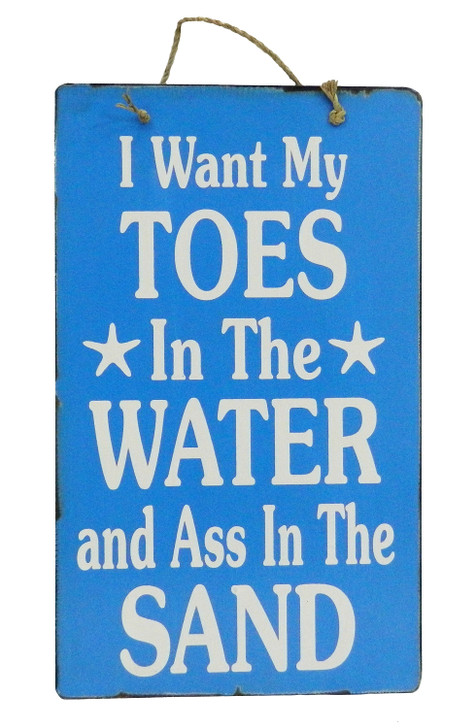 "Retro Sign "" TOES IN THE WATER ..... """