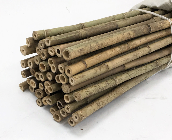 1 in D. x 5 Ft. L Natural Bamboo Garden Stakes