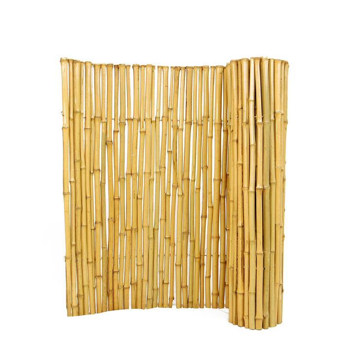 """Natural Bamboo Fence 1"""" D x 6' H x 8' L"""