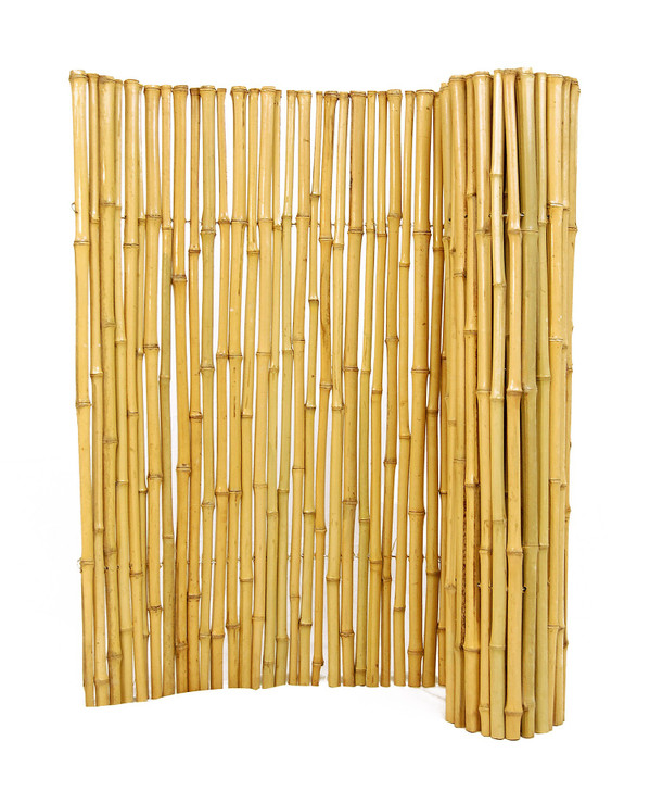 """Natural Bamboo Fence 1"""" D x 8' H x 8' L"""