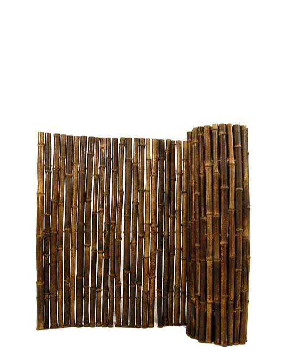 "Natural Black Bamboo Fence 1"" D x 4' H x 8' L"
