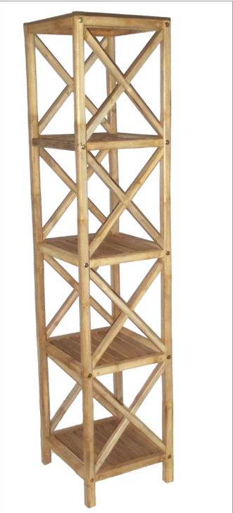 Bamboo Bathroom Rack 5 Tier