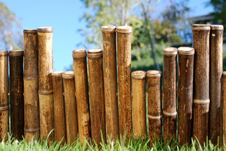 "Natural Black Bamboo Border Edging 1.25"" x 8'"