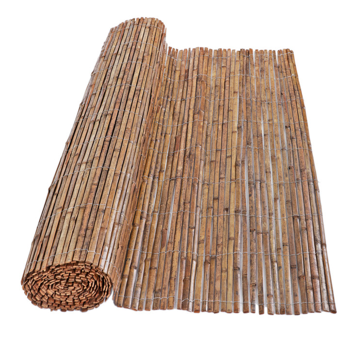 6 ft. H x 16 ft. L Carbonized Split Bamboo Fencing