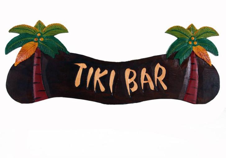Tiki Bar Palm Tree Sign