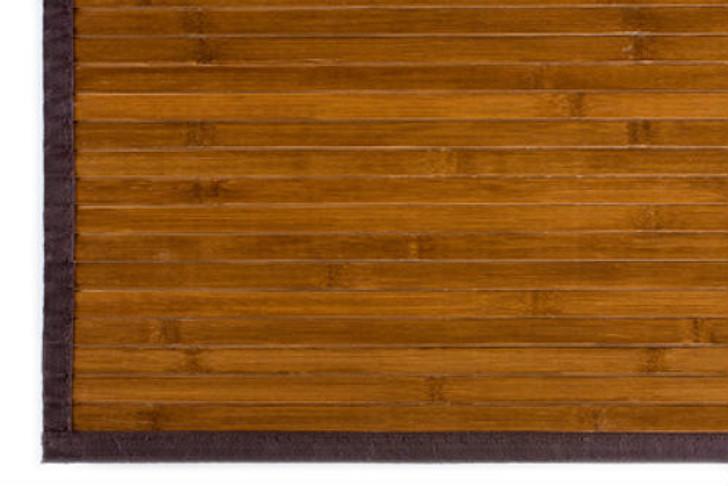 Bamboo Rug Dark Natural 4' x 4'