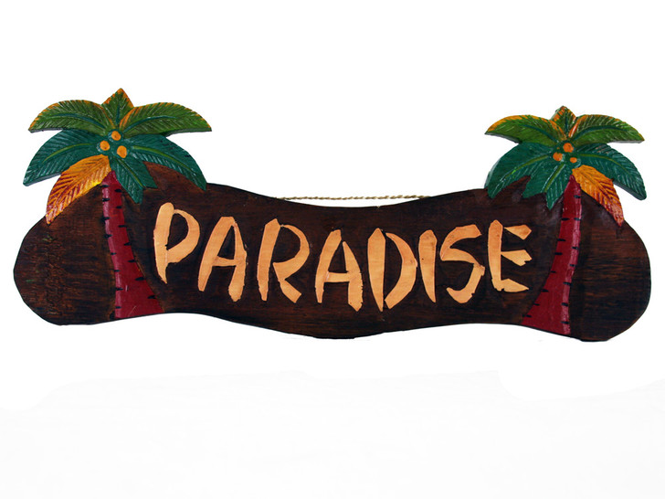 Paradise Palm Tree Sign