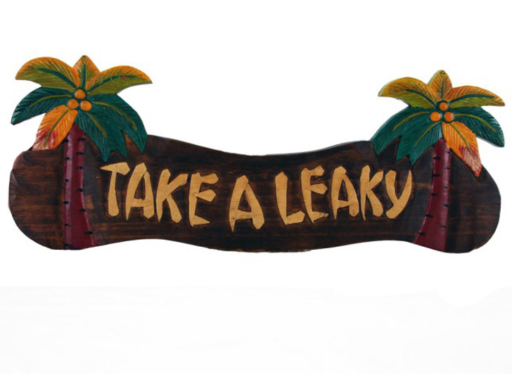 Take a Leaky Palm Tree Sign