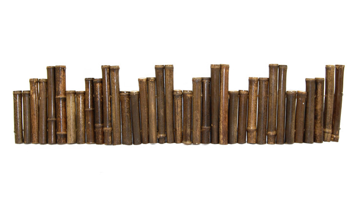 "Natural Black Bamboo Border Edging 1.25"" x 24'"