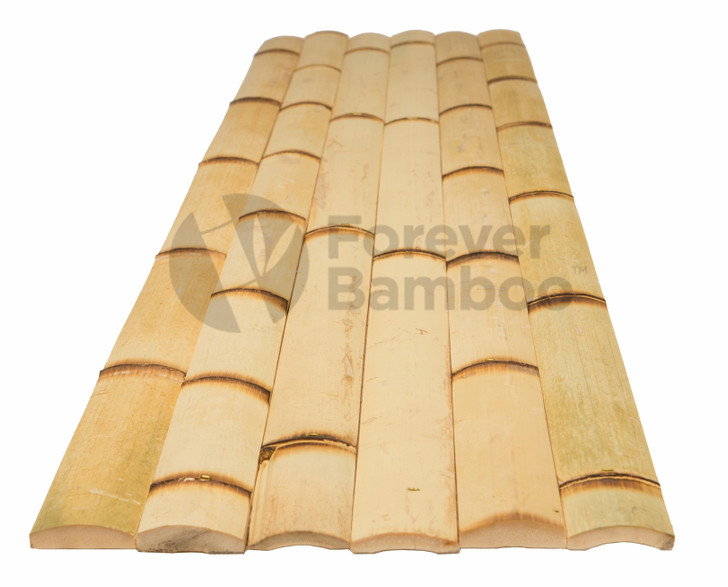 "Natural Burnt Bamboo Slats 2"" x 8' (25 Pack)"