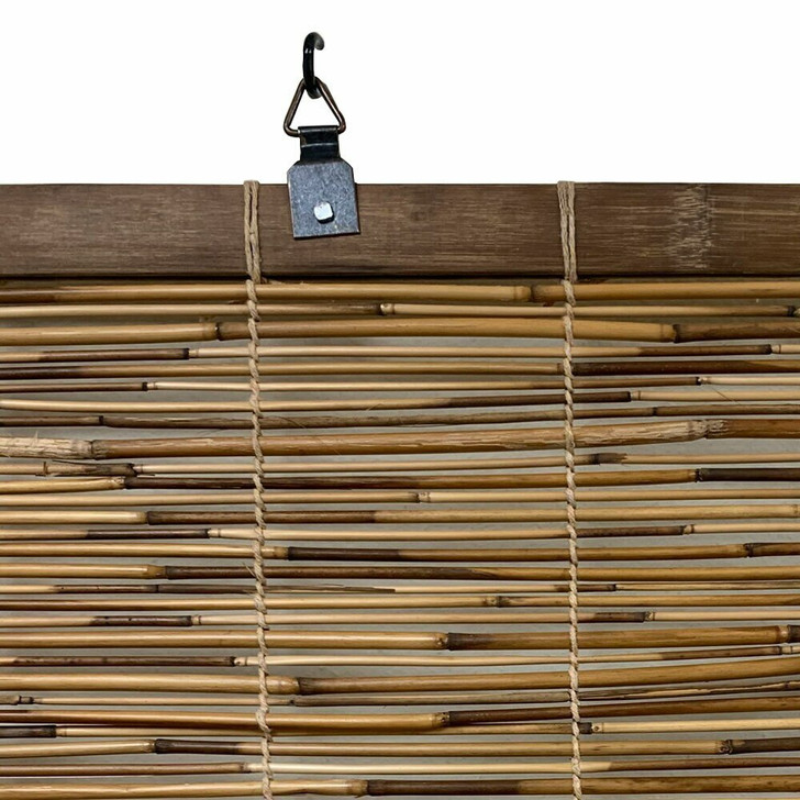 Coffee Bamboo Reed Blinds, Large 72 in H x 72 in W