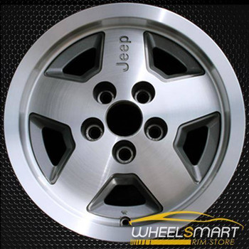 "15"" Jeep Wrangler oem wheel 1987-1995 Machined slloy stock rim ALY01512U10"