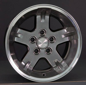 "15"" Jeep Wrangler replica wheel 1987-2006 Hyper Black Machined rims 5910710"