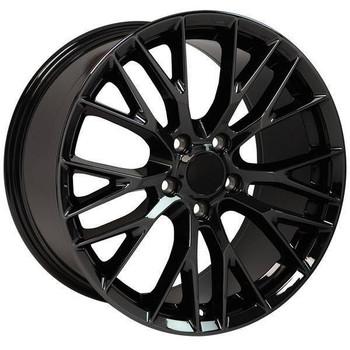"18"" Chevy Corvette  replica wheel 1988-2004 Black Chrome rims 9507863"