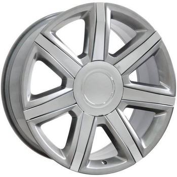 "22"" Chevy C2500 replica wheel 1988-2000 Hypersilver Chrome Inserts rims 9492015"