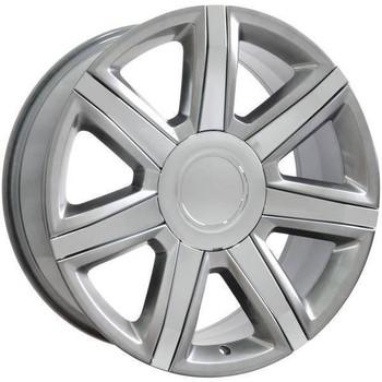"22"" Chevy C2500 replica wheel 1988-2000 Hypersilver Chrome Inserts rims 9492015"