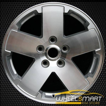 "18"" Jeep Wrangler OEM wheel 2007-2011 Machined alloy stock rim ALY09076A10"
