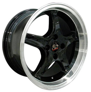 "17"" Ford Mustang   replica wheel 1979-1993 Black Machined rims 8181863"