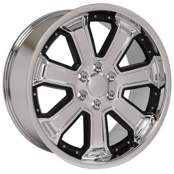 "22"" Chevy Blazer replica wheel 1992-1994 Chrome Black Inserts rims 9506714"