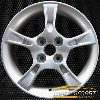 """15"""" Mazda Protege OEM wheel 2002-2003 Silver alloy stock rim ALY64851U20"""