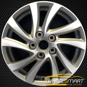 """16"""" Mazda 3 OEM wheel 2012-2014 Silver alloy stock rim ALY64946U20"""