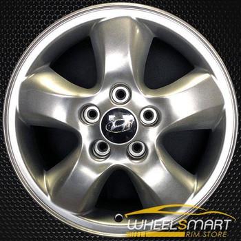"16"" Hyundai Santa Fe OEM wheel 2005-2006 Silver alloy stock rim ALY70716U20"