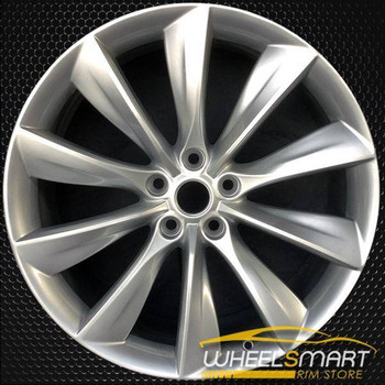 "21"" Tesla S Type OEM wheel 2012-2013 Charcoal alloy stock rim ALY98727U30"